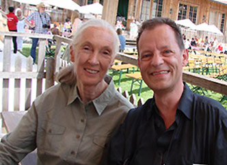 Dame Jane Goodall at Gut Aiderbichl, photo with Univ.-Prof. Dr. Gerhard W. Hacker (c) 2009